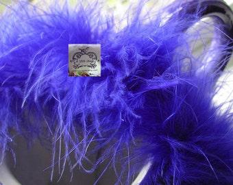Dark Royal Blue Marabou Boa Feathers