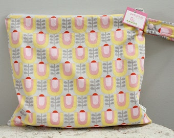 Wet Bag wetbag Diaper Bag ICKY Bag grey mod flower gym bag swim cloth diaper accessories zipper shower gift newborn baby child kids summer