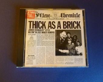 Jethro Tull Thick As A Brick CD F2 21003 Chrysalis 1985