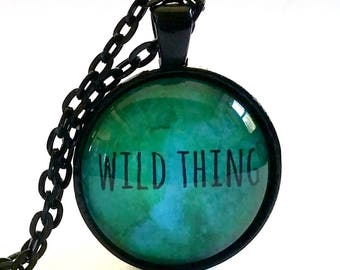 Wild Thing Gift | Wild Thing Necklace | Glass Pendant | Free Gift Box