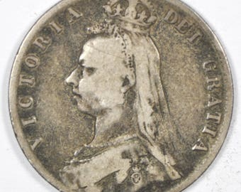 1891 Great Britain Silver Half Crown KM764