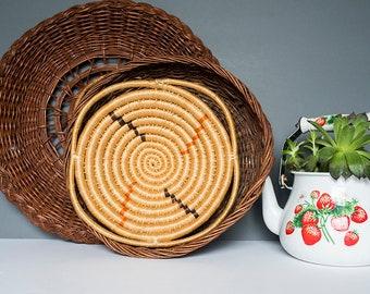 Set of Vintage Woven Baskets