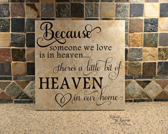 In Loving Memory Gift, Because we love someone in Heaven, Remembrance Gift, Memorial gift, Loss of a loved one, Loss of a child, Sympathy