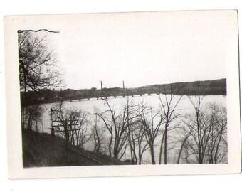 Vintage Landscape Photo, Found Photo, Black and White photo _ 191