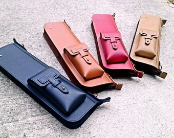 Leather Drum Stick Bag  S