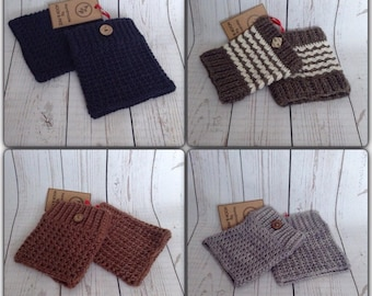 All Wool Ladies/girls Boot Cuffs, boot toppers.