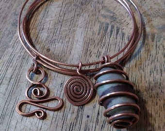 Copper bangle set