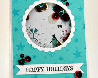 Happy Holidays Shaker Card