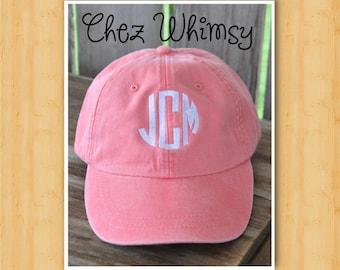 Baseball Cap, Monogrammed Ladies Cap, Women's Baseball Cap, Monogram Cap, Monogrammed Hat, Girls Ball Cap Personalized