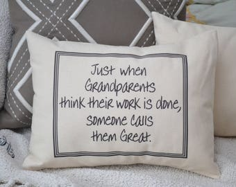 Personalized pillow, Great Grandparent announcement, pregnancy  reveal, Mother's day personalized pillow, Great Grandmother gift