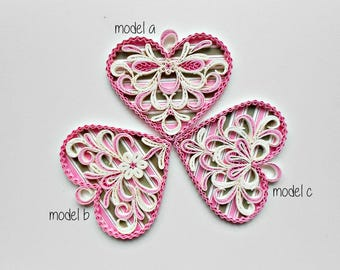 Love card/Quilled love card/Valentine's Day card/Valentine's gift/wedding card/heart love card
