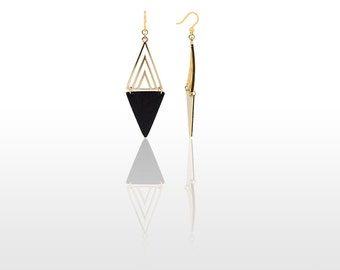 Hypoallergenic Silicone Modern Rectangle Earrings