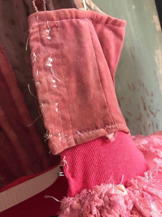 Lace Ballet velvet Tutu Dress Amazing Pink Dark Vintage Skirt Tulle Costume wcTq77O1nF