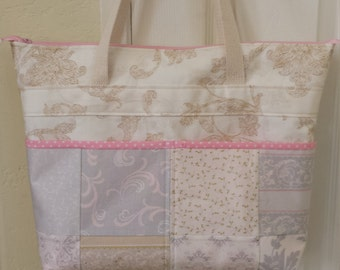Made to order:  A Quilted Tote Bag with a Zipper Enclosure
