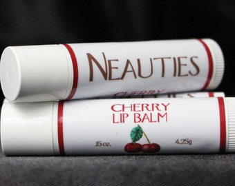 Natural Lip Balm // Cherry Flavor // The World's Most Loved Lip Balm! // Neauties Premium Lip Products