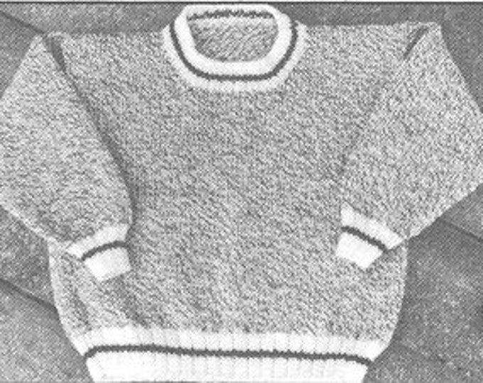 eweCanknit pattern 122-123-124: the Barn Sweater pattern child, youth or adult