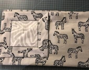 Deluxe Zebra Receiving Blanket