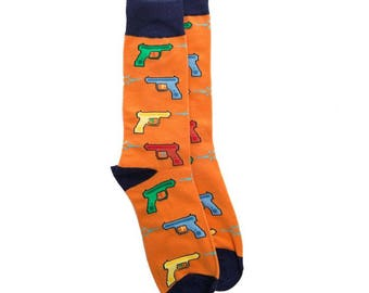 Vintage SquirtGun Mens Socks