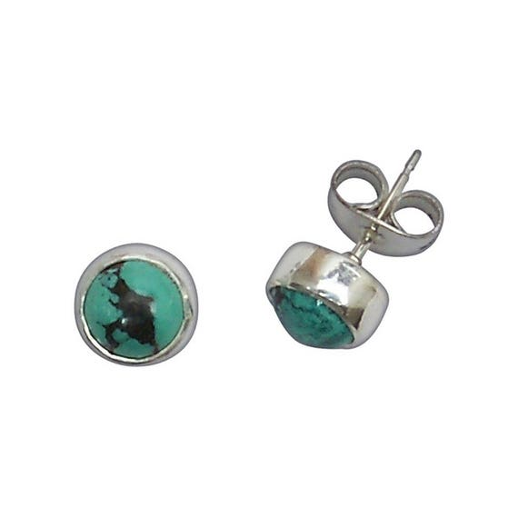 Turquoise and Sterling Silver Post Earrings  eturc2950