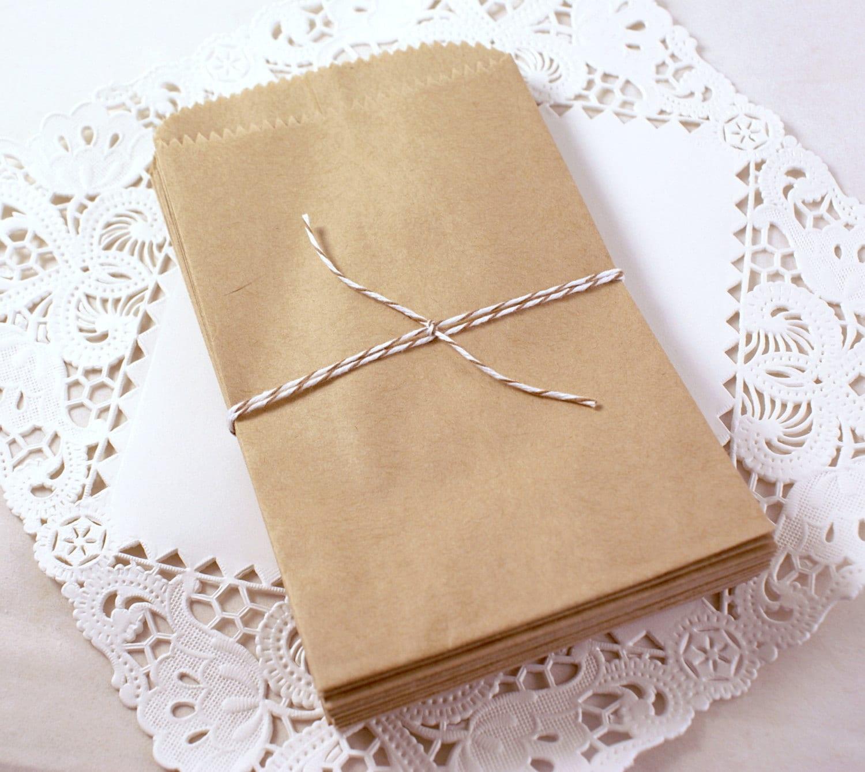 100 Small Kraft Brown Paper Bags 3 12 X 5 34 Inch Packaging