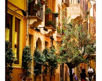 Italy Street Photography Italy Wall Art Sunny Italy Digital Download Photography Verona Italy Fine Art Photography Italy Print Italian House
