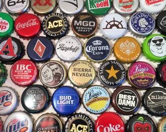 100 Assorted Unique Metal Bottlecaps