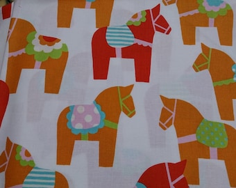 1M Japanese cotton fabric Dalahast printed one yard