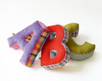 Stuffed letter, cuddly ABC, letters Kiss ...