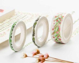 Leaf Washi Tape, Green Washi Tape