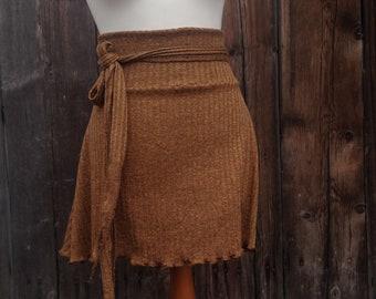 Rustic brown high waist skirt