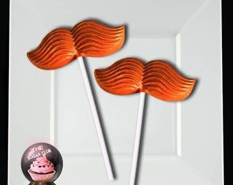 Orange Leprechaun Mustache Chocolate, St Patricks Candy, Mustache Photo Prop, March Birthday Favor, Edible Mustache, Leprechaun Party Favor