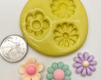 Flower Small Mixed Silicone Mold (c111