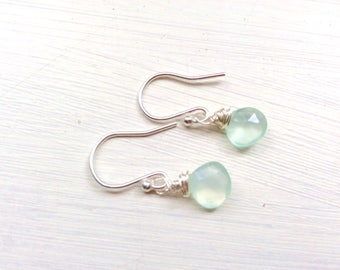 Earrings, jewellery, jewelry, chalcedony, special occasion, sterling silver, ladies gift, made in U.K.