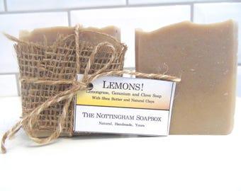 Lemons! - Lemongrass, Geranium and Clove Soap