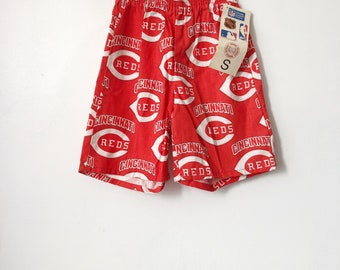 vintage cincinnati reds shorts college concepts boys size small 6-8 deadstock NWT 90s made in USA