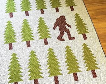 Legendary quilt pattern - Elizabeth Hartman, Oh Fransson - Sasquatch, Bigfoot, woodland quilt, pacific northwest, modern quilt, tree quilt