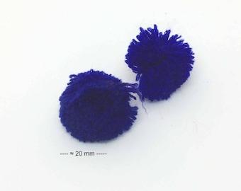 pretty blue color wool tassel charm