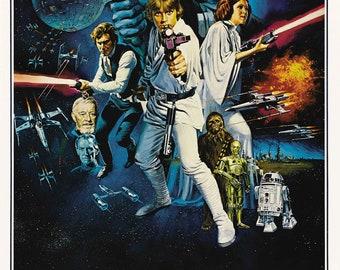 Printable Star Wars IV: A New Hope 1977 Vintage Poster