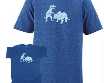 Matching Tees - Family T Shirts Sizes for Whole Family - Father Son Baby Mother Daughter Brother Sister Dinosaur Matching TShirts Tees
