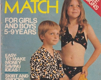 ON SALE Enid Gilchrist - Mix'n Match 50 Simple Sewing Designs - for Boys & Girls - 1970s