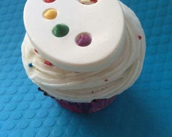 PAINT PALETTE Cupcake Topper (24), Paint Palette Party, Paint Palette Chocolate