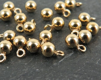 Gold Filled Ball Charm 4mm