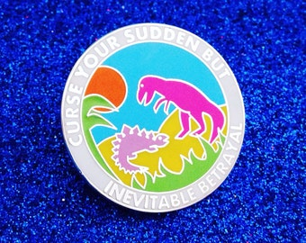 "Firefly Serenity Enamel Lapel Pin Badge - ""Curse your sudden but inevitable betrayal"""