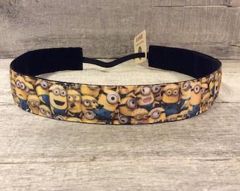 Minions Nonslip Headband, Noslip Headband, Workout Headband, Sports Headband, Running Headband, Athletic Headband