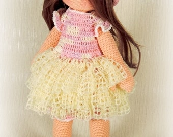 Princess Doll - PDF crochet pattern. Amigurumi pattern. Crochet Doll. Gift for girl