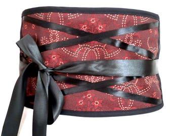 Mind aflutter rust corset belt