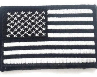 """Tactical US Army Military American Flag Embroidered Hook Fastener Backing Patch, Size 3 X 2"""""""