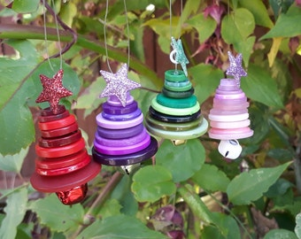 Button Christmas Tree Decorations, Christmas Tree, Tree Decorations, Christmas Decoration, Button Tree, Christmas Tree Ornament
