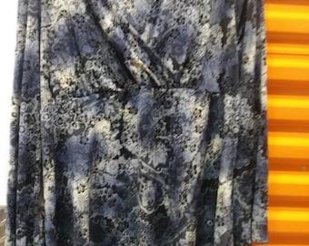 Blue empire waist top sz lg