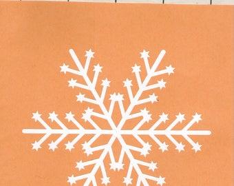 Snowflake vinyl decal